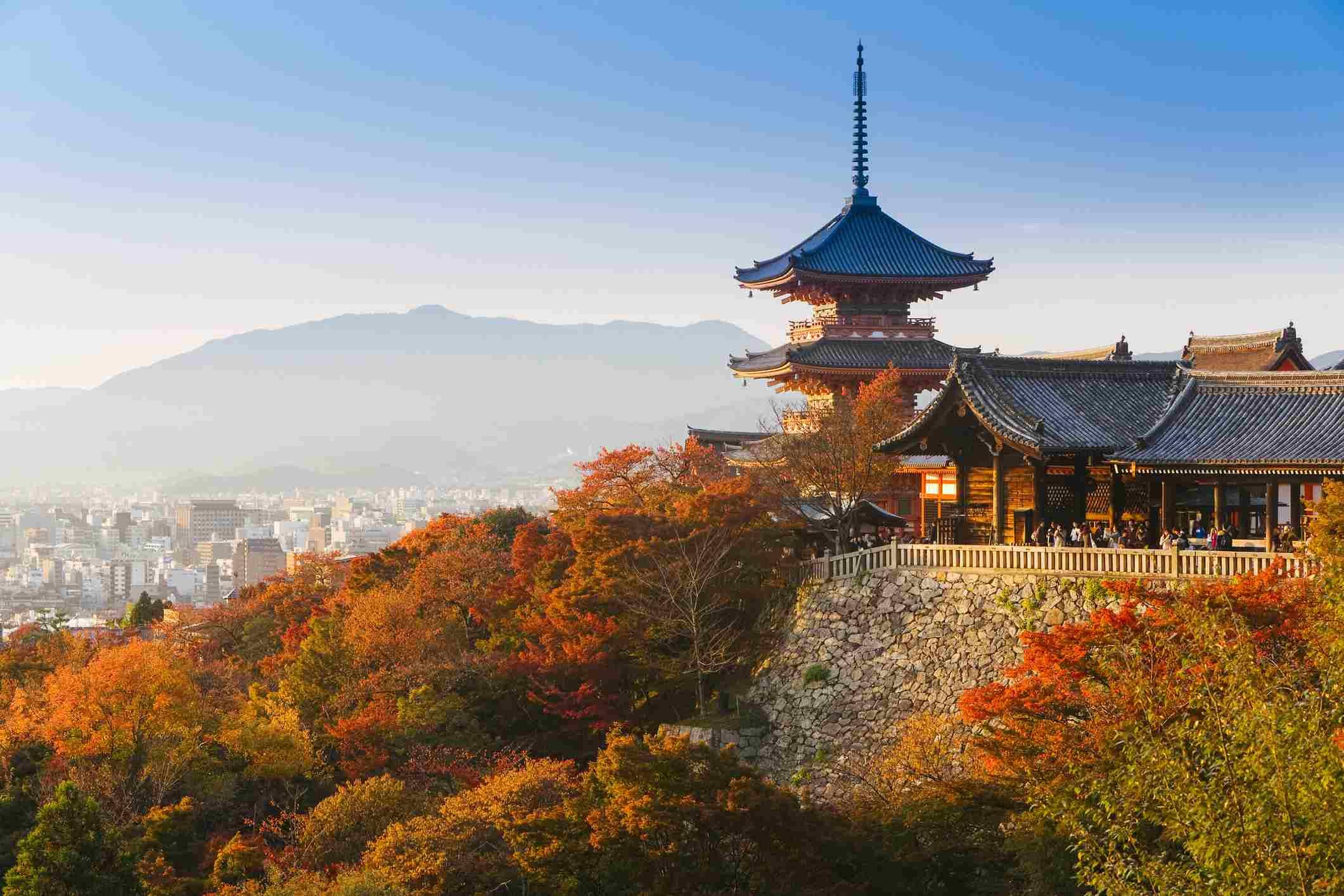 Japón, Honshu, región de Kansai, Templo Kiyomizu-Dera