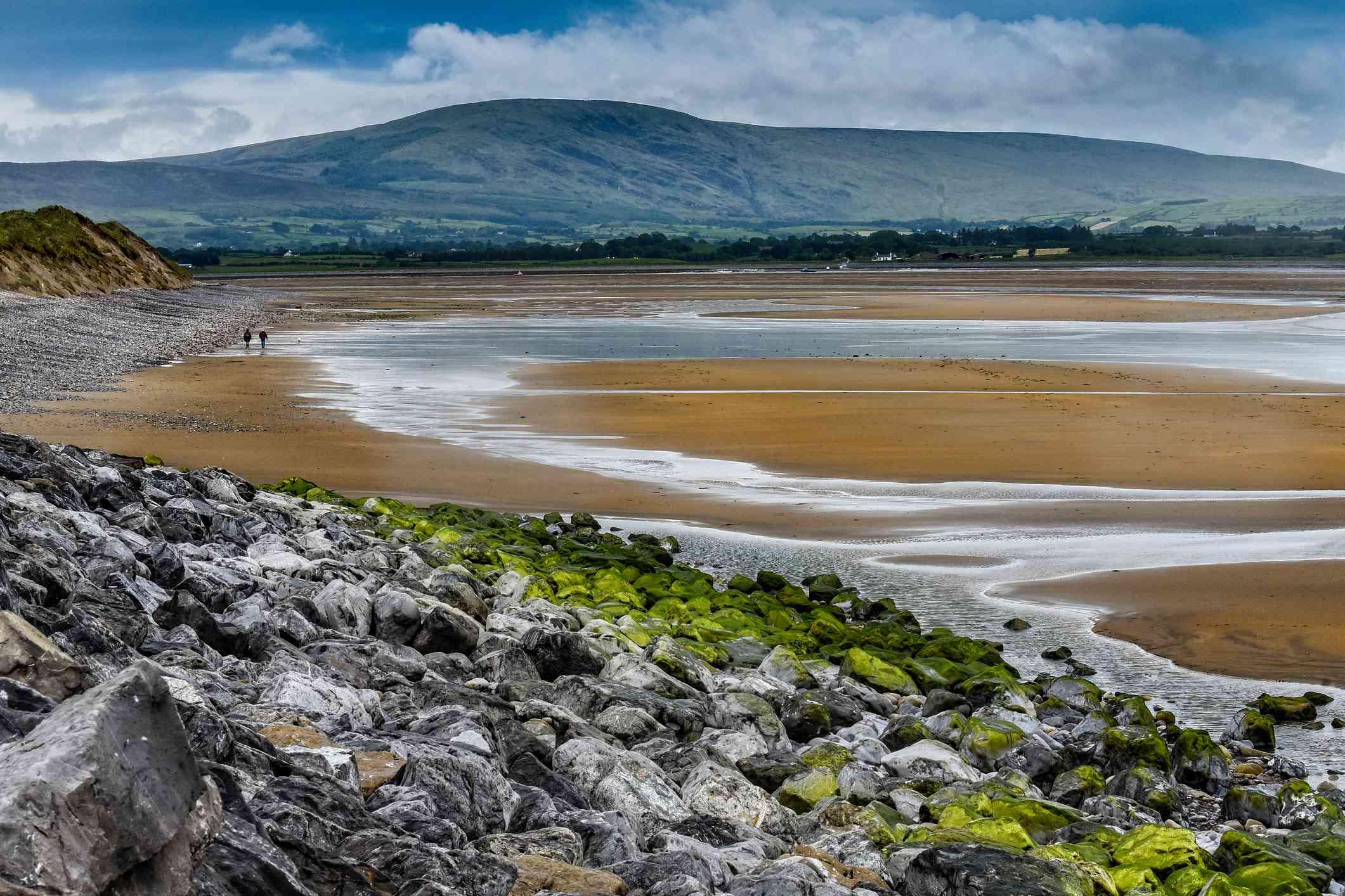 rocky and sandy beach