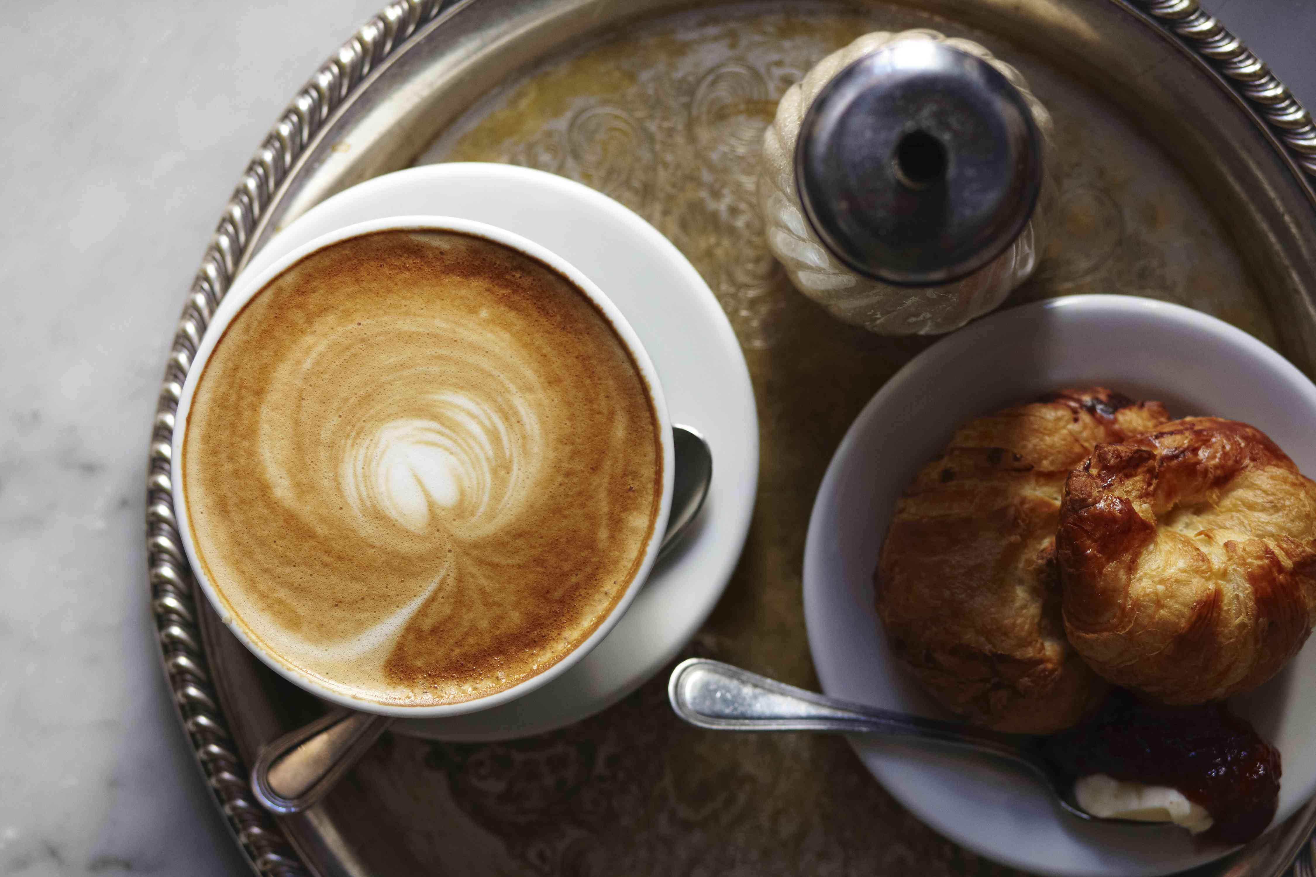 latte and croissants from Buvette