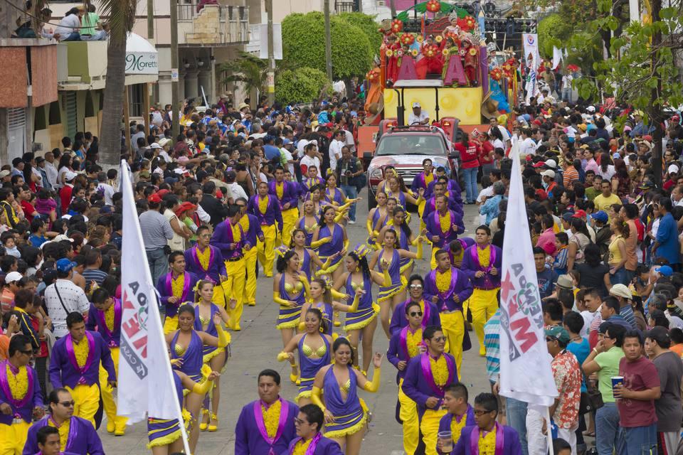 Desfile de carnaval en Veracruz, México