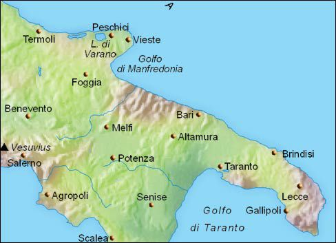 Map Of Puglia Maps and Places to See in Puglia