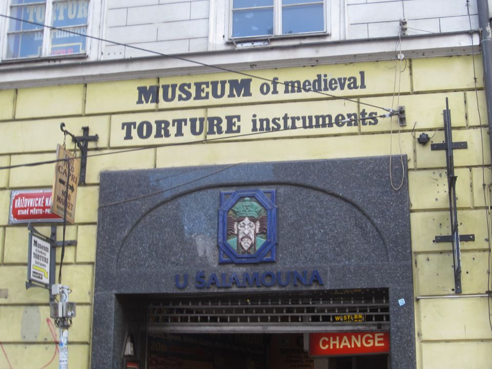 Museum of Medieval Torture Instruments in Prague.