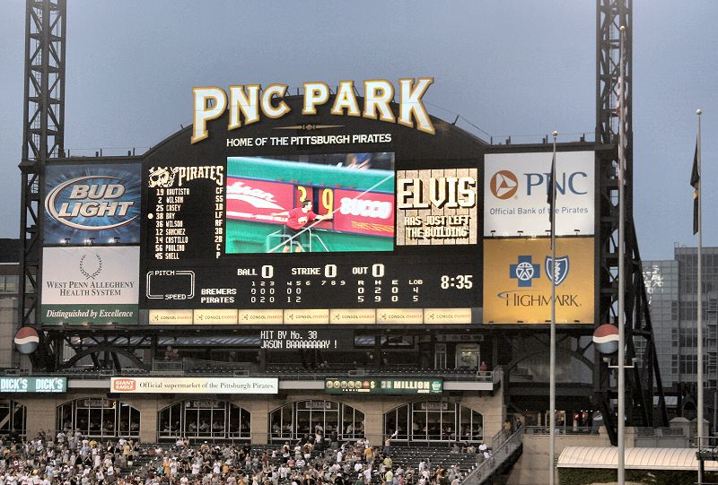 PNC Park's state of the art scoreboard
