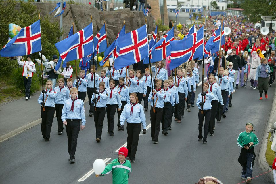 Iceland, Kopavogur, National Independence Day Parade