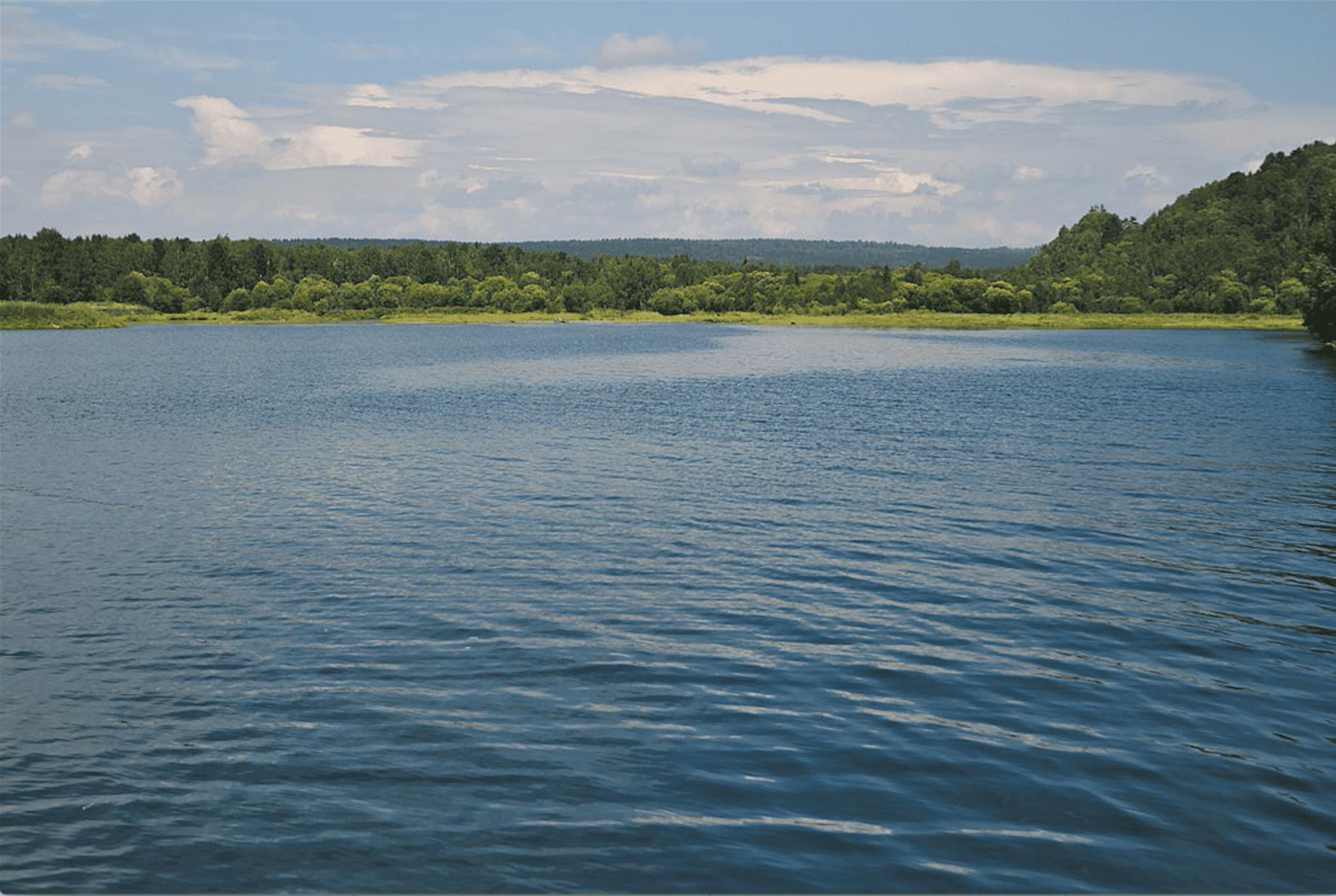 Angara River in Summer