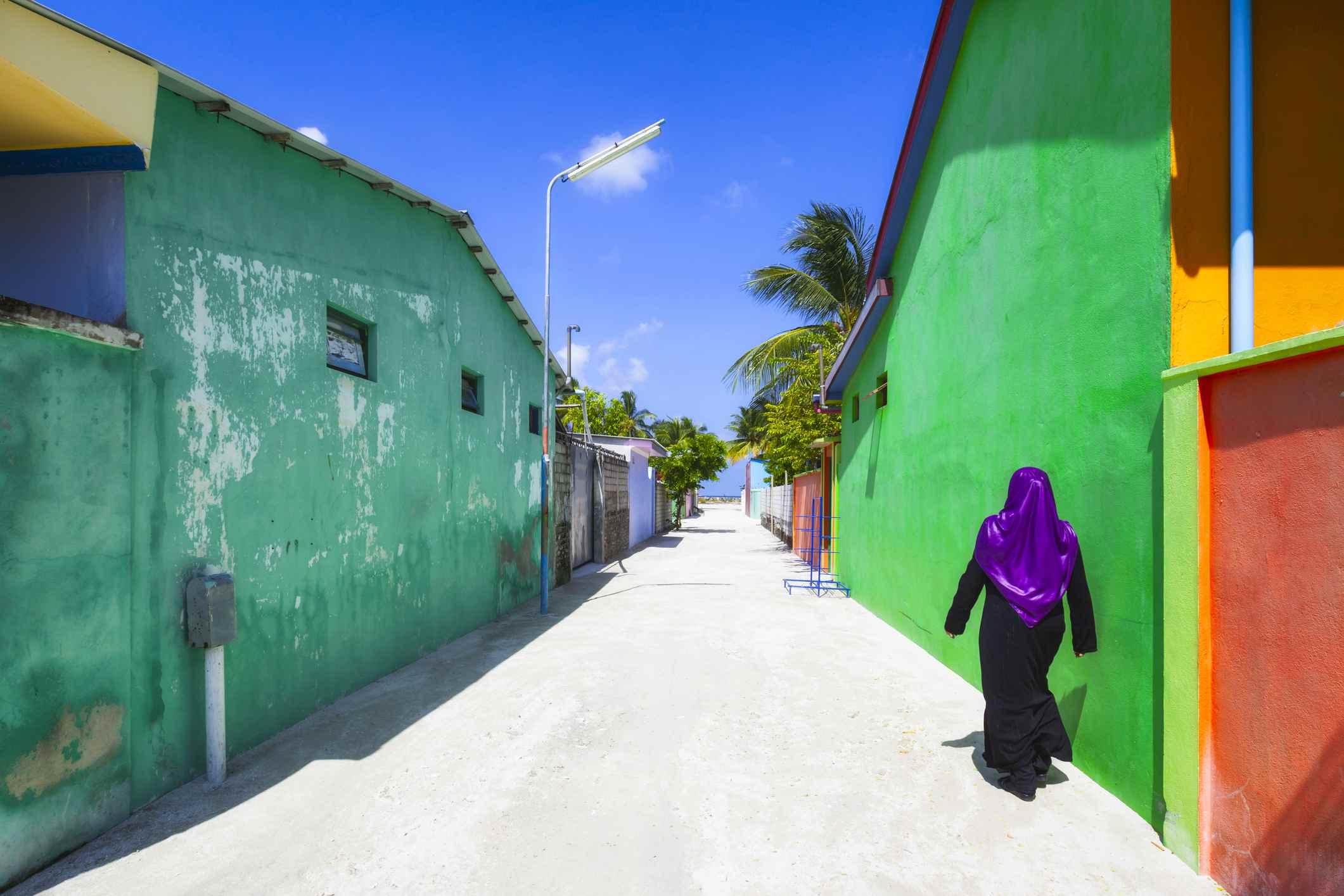Maldives island.