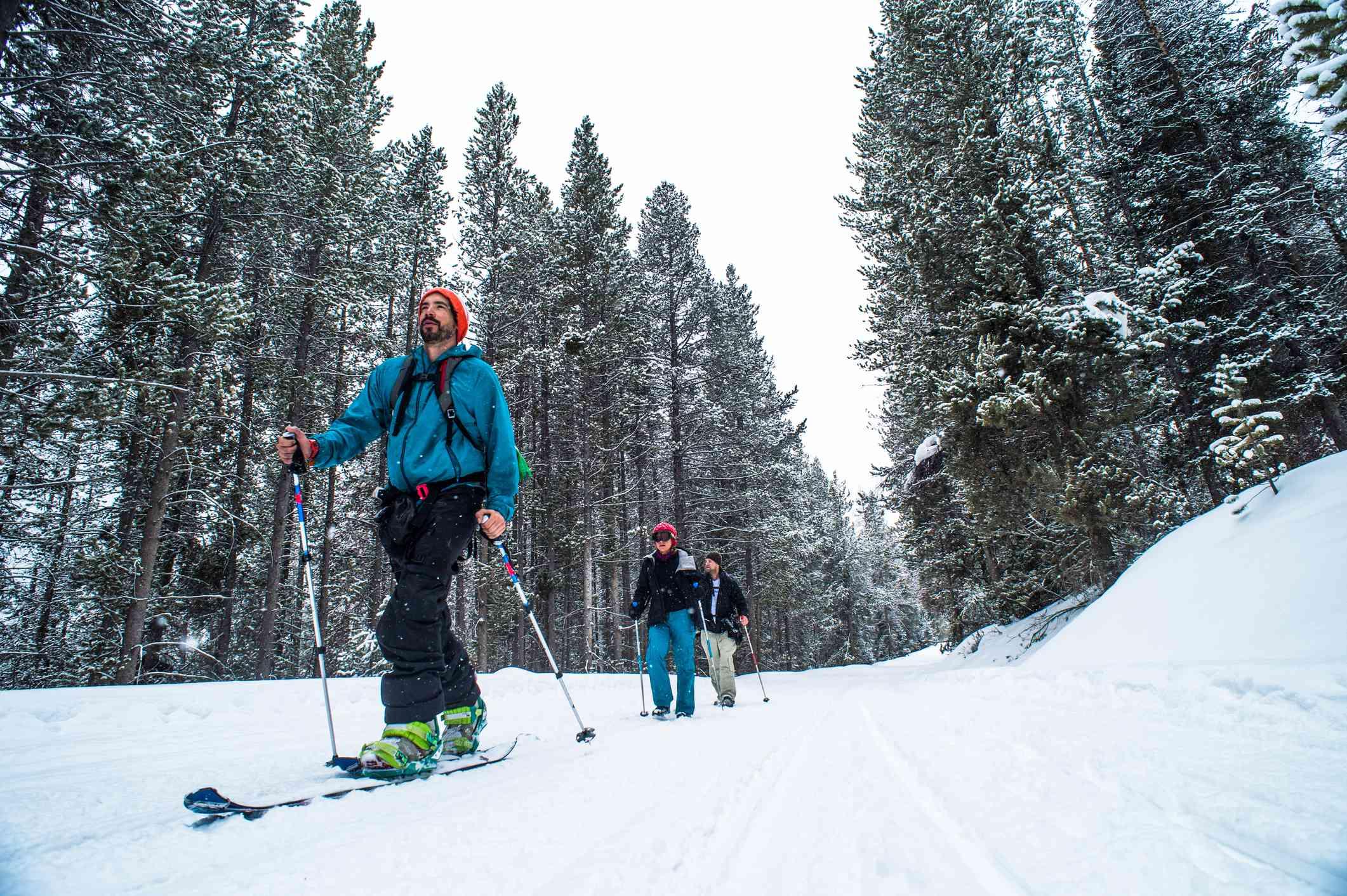 People skiing in Jockson Hole, Wyoming.