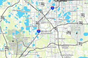 Map of Disney World and Orlando