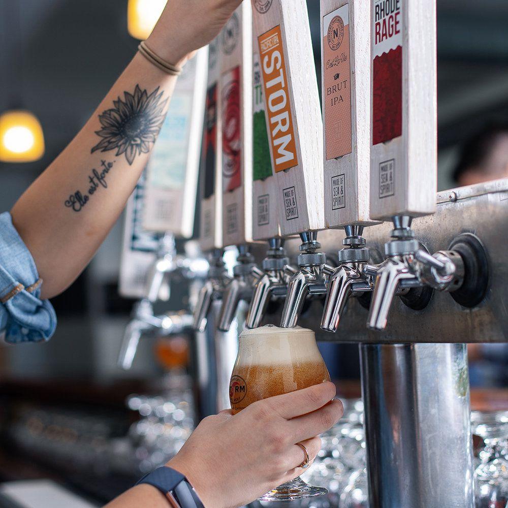Newport Craft Brewing beer taps
