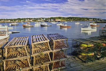 Maine Summer Lobster Boats