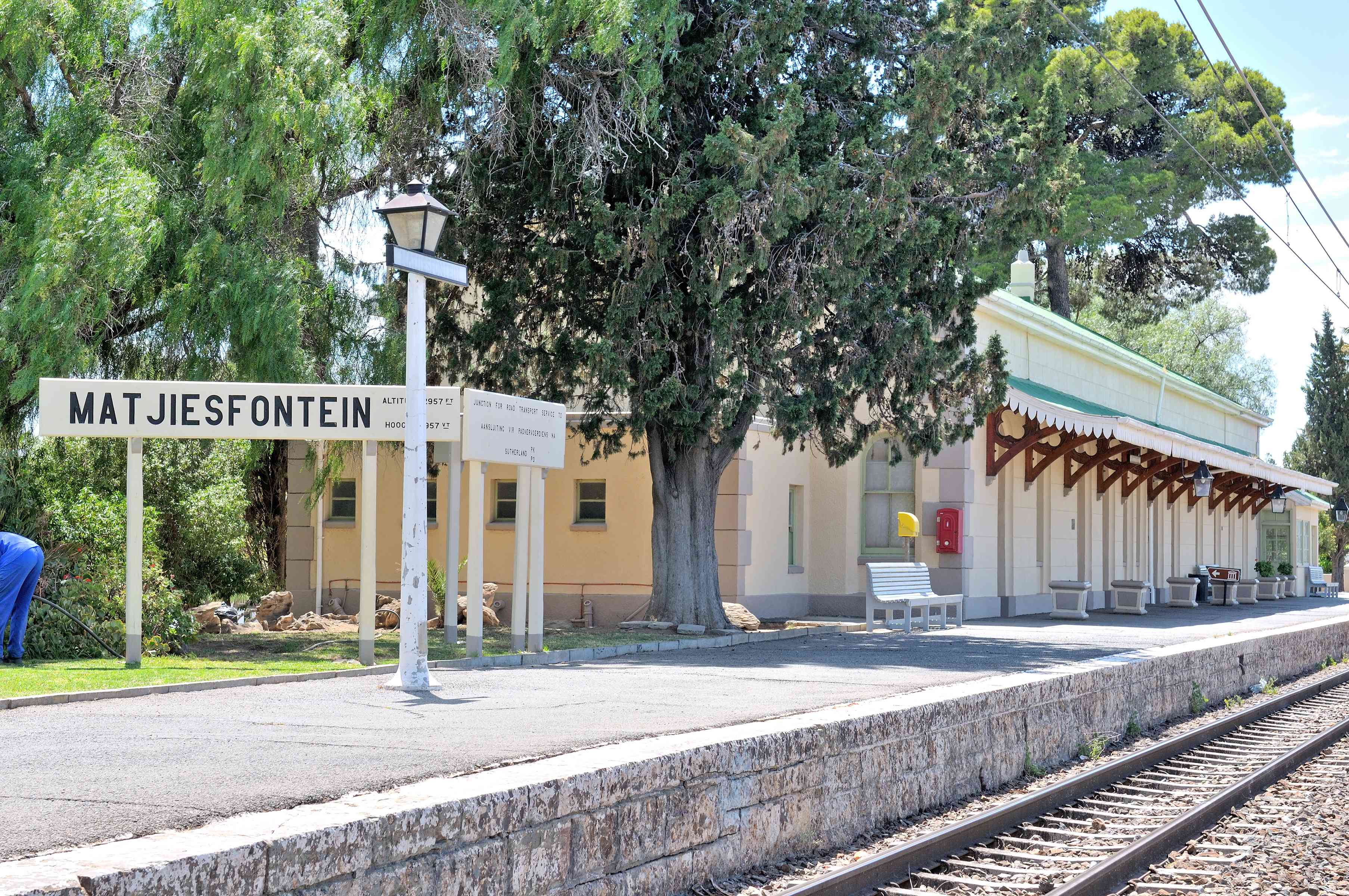 Matjiesfontein train station in the Central Karoo, South Africa