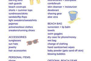 Family Beach Trip Packing List