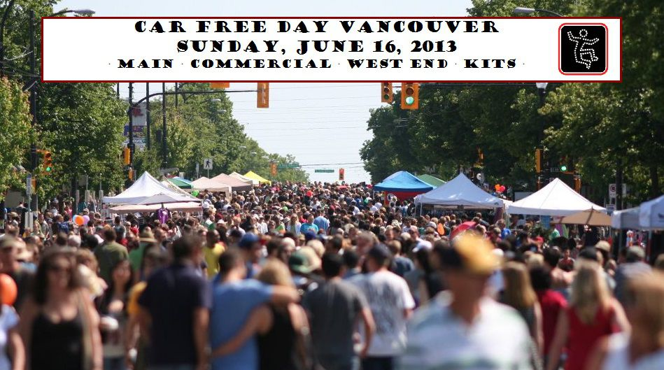 Car Free Festival Vancouver on Main Street