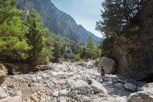 Upper part of Samaria Gorge in Crete