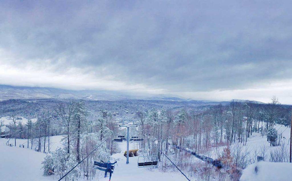 Ski lift at Bryce Resort in Virginia