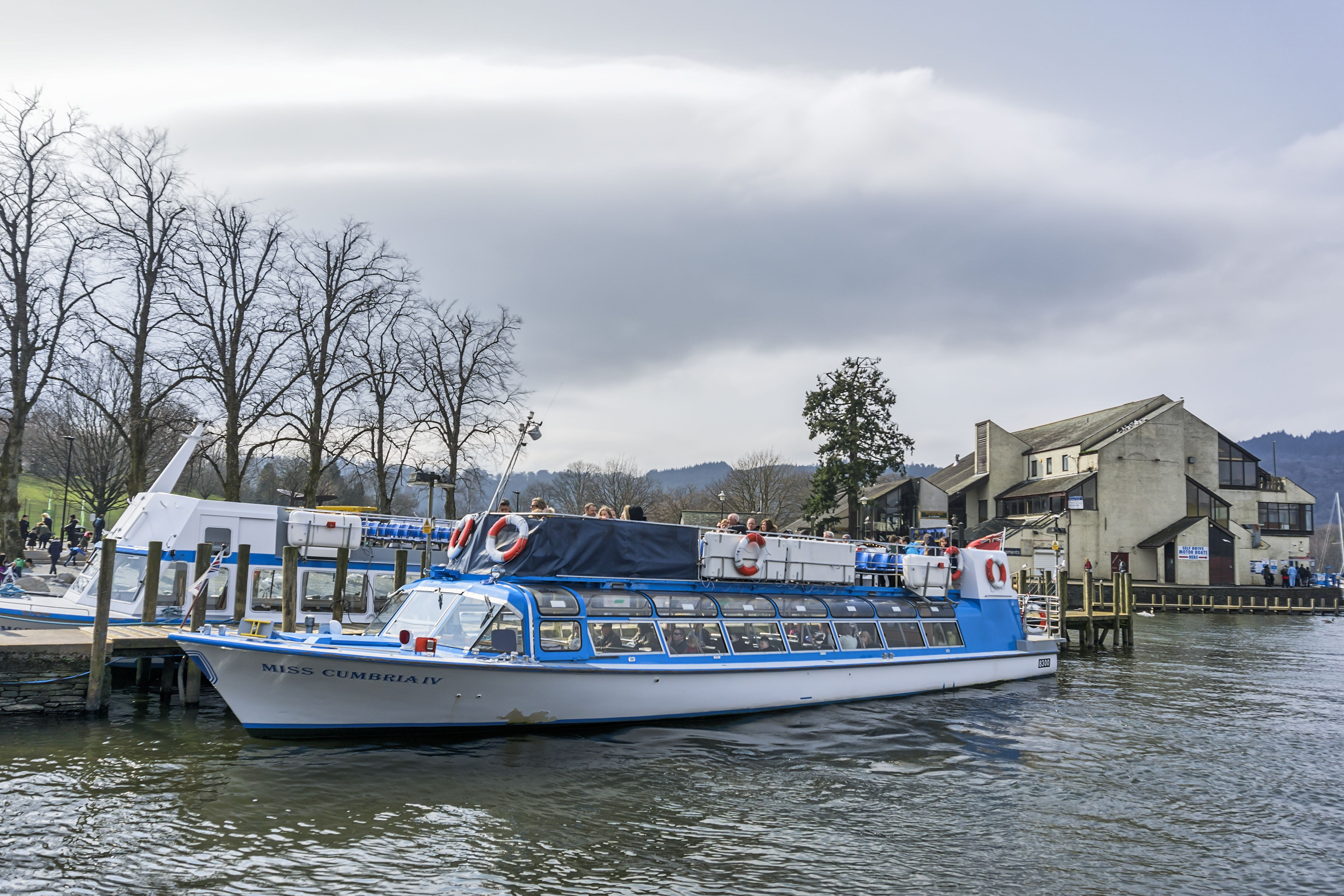 tour boat on Lake Windermere