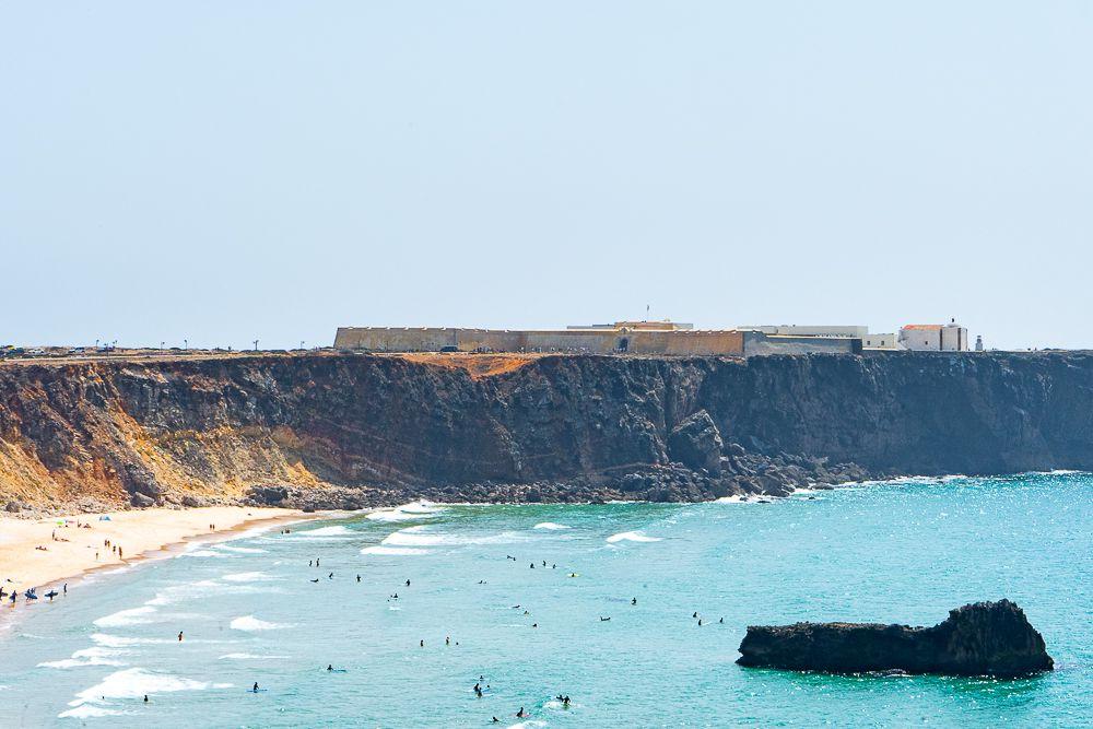 Fortaleza Sagres over the ocean