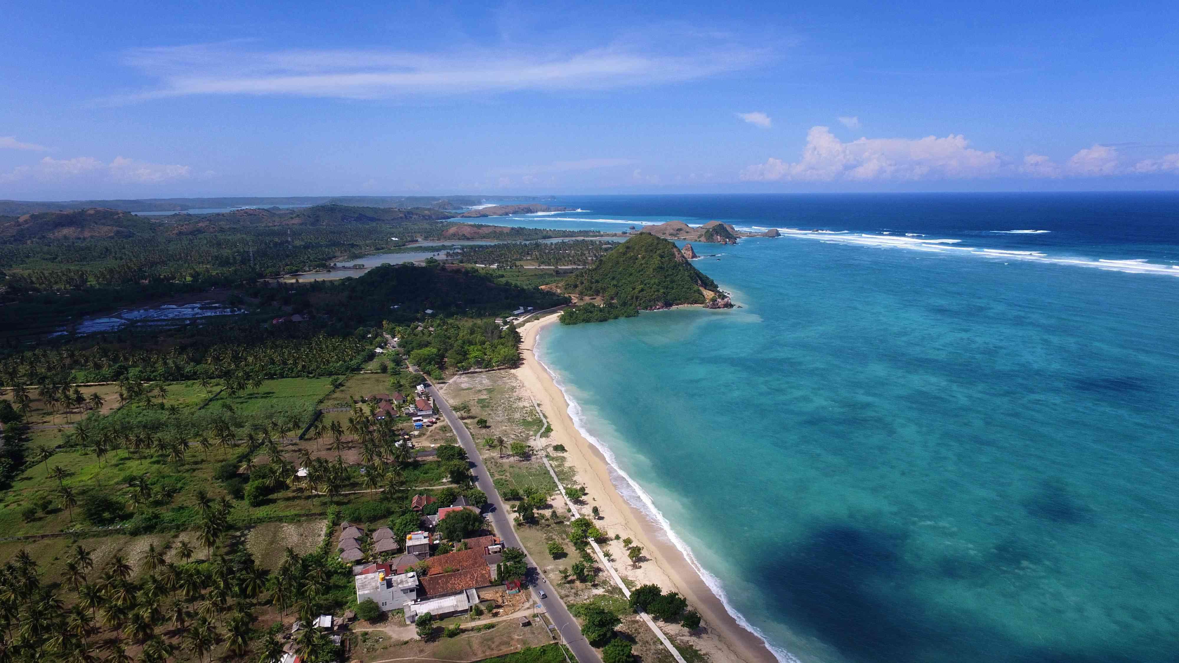 Kuta Beach, Lombok, indonesia