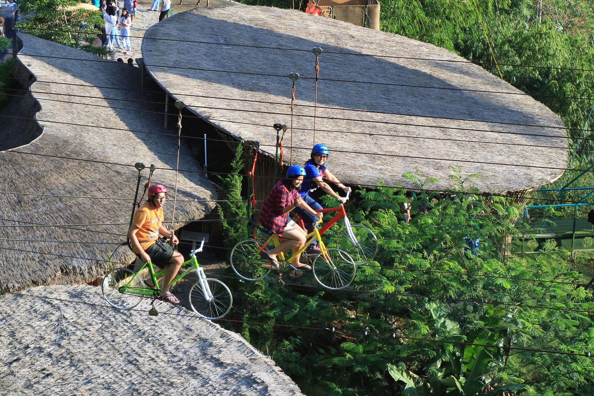 Zip Bike Photo Spot at The Lodge Woodland Maribaya