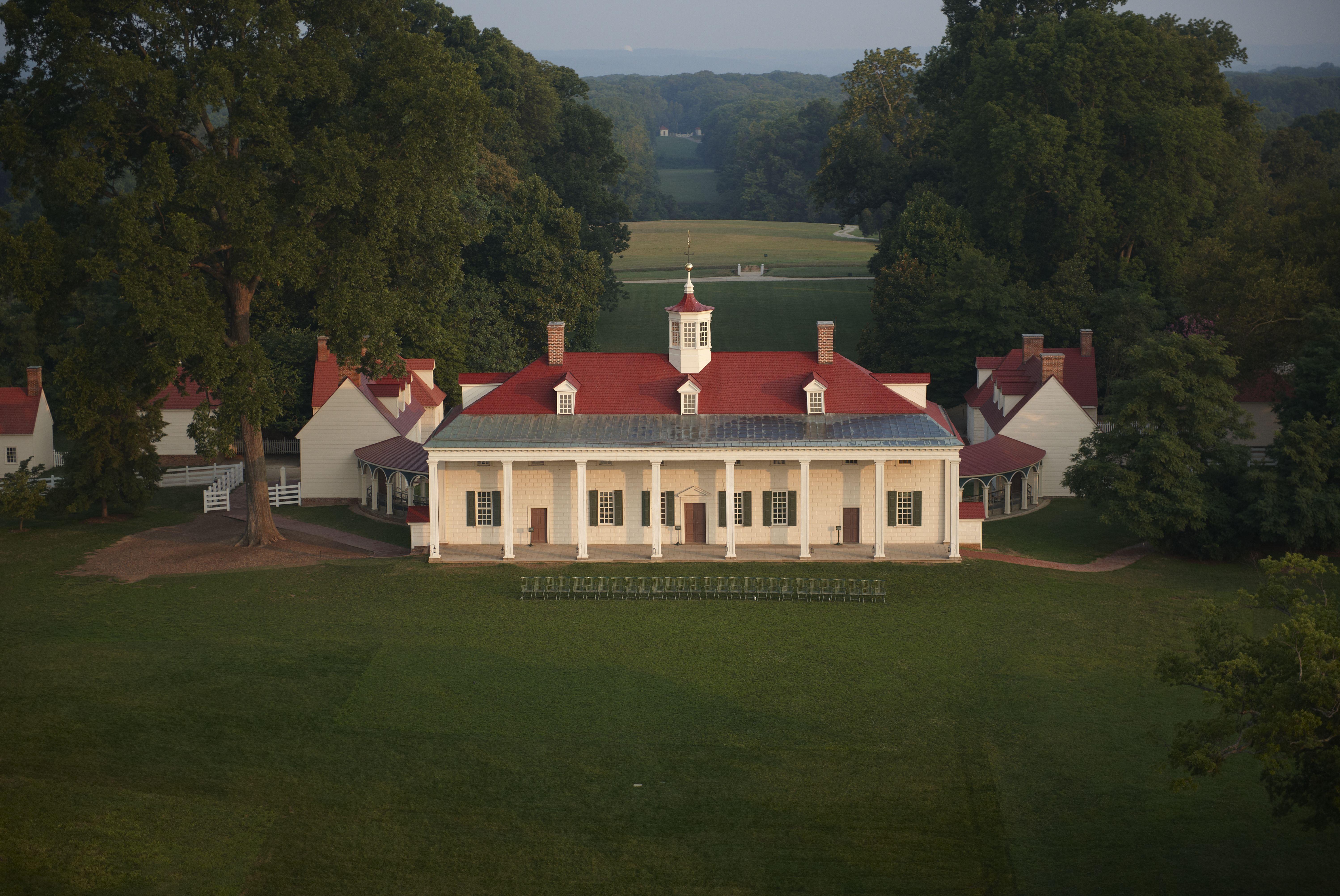 Aerial view of the Mount Vernon Estate
