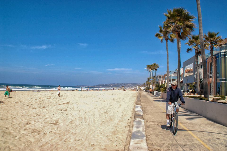 Bike Ride At Mission Beach