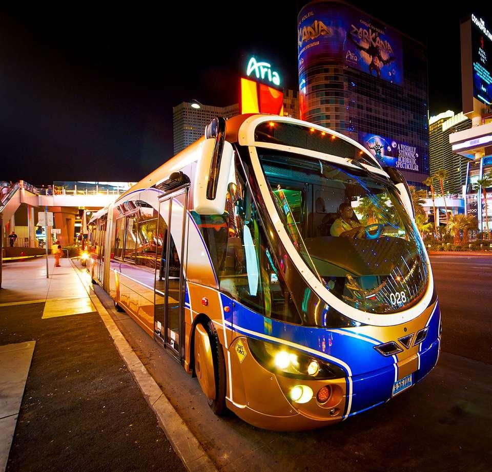 The Deuce, an RTC bus that runs along the Strip