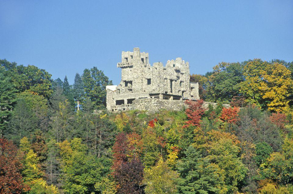 'Autumn colors at Gillette Castle State Park, East Haddam, Connecticut'