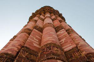 Looking up at Qutab Minar