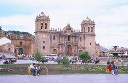 Lima Peru cathedral and Plaza de Armas