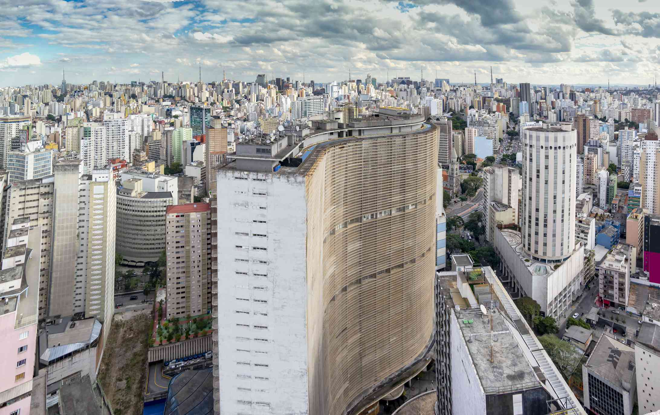 aerial view of Sao Paulo's downtown