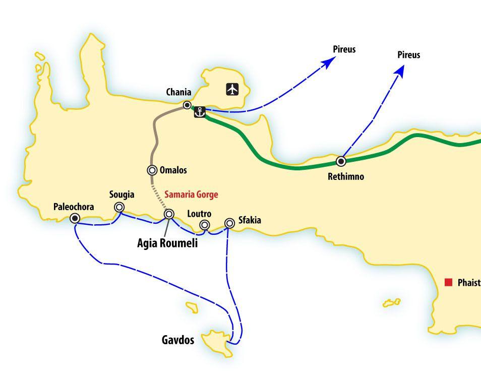 western crete map