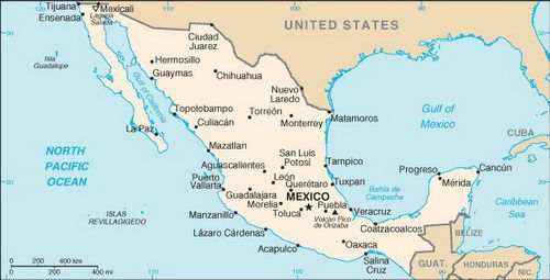 Caribbean Cruise Maps of Mexico