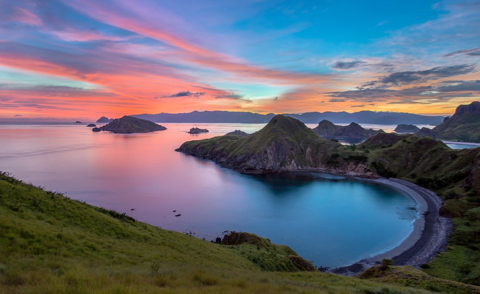 Padar Island Sunset Labuan Bajo in Flores Island Indonesia