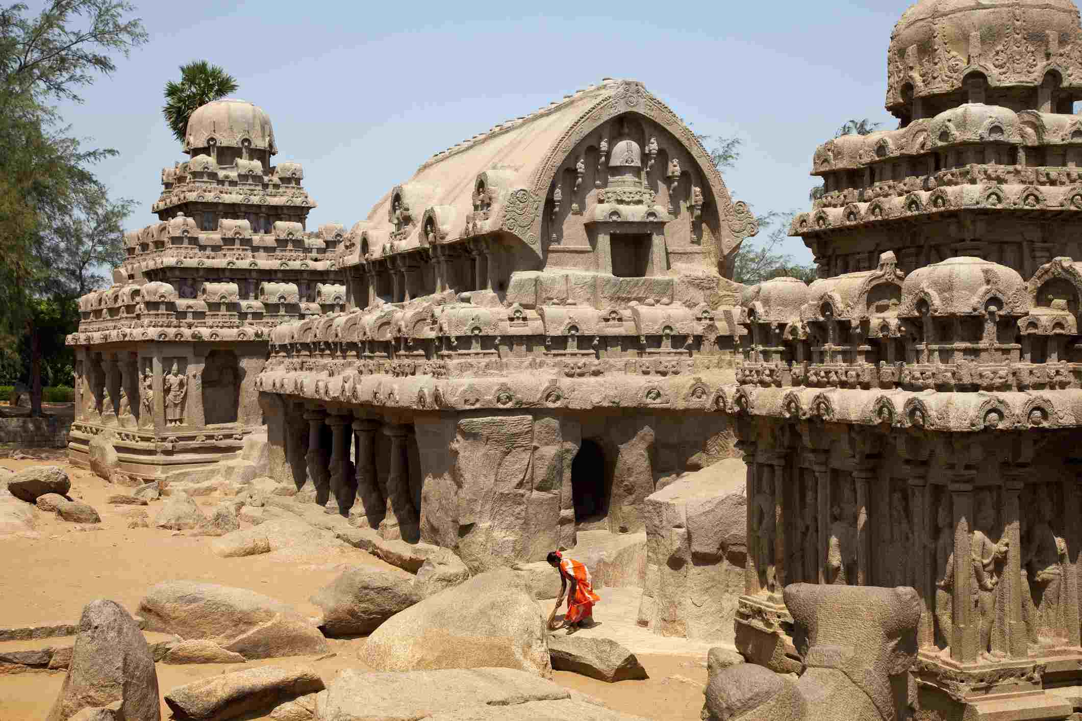 Panchas Rathas, part of the Five Rathas Temple