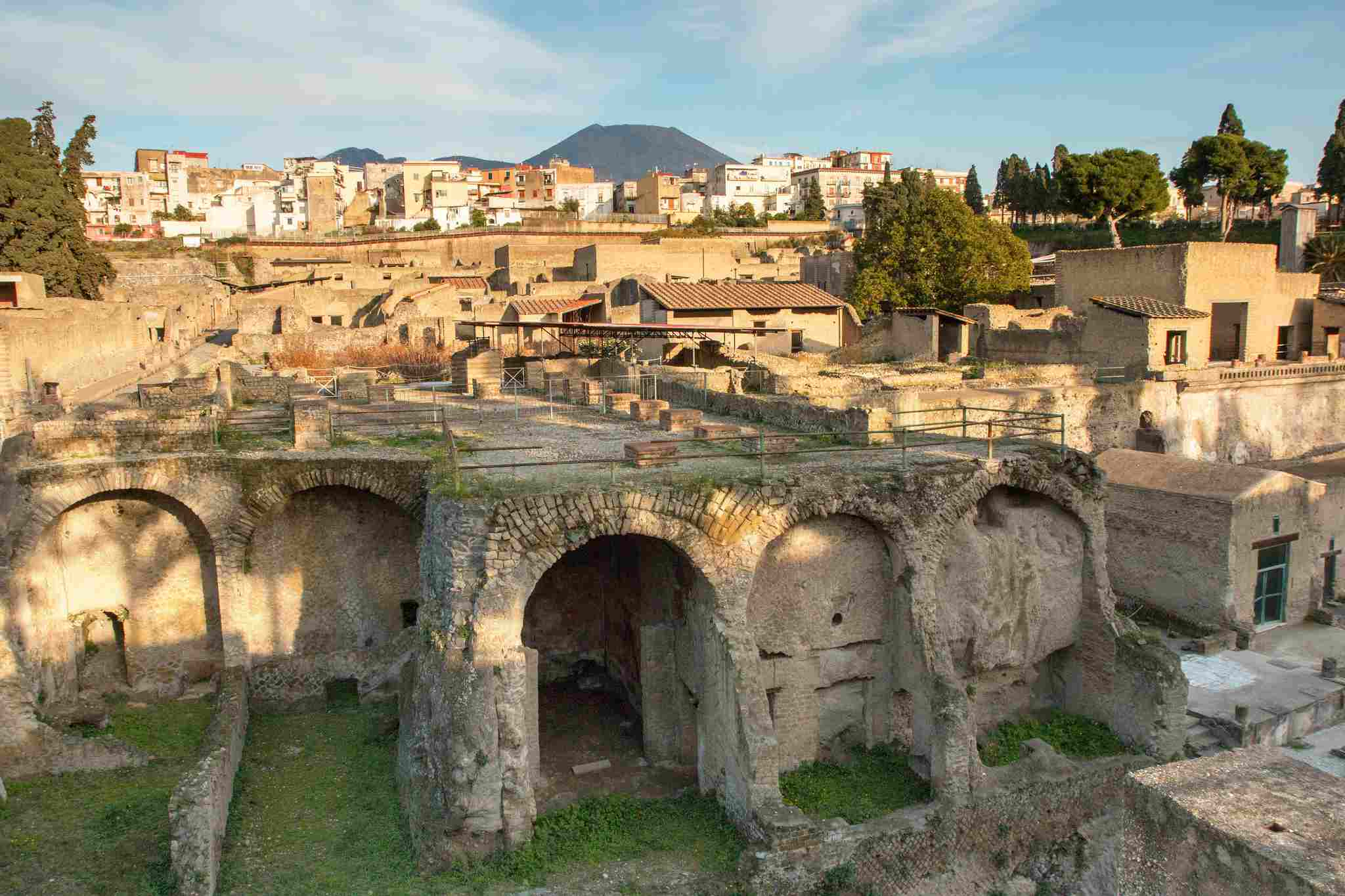Herculaneum, Italy, in the afternoon sunlight.