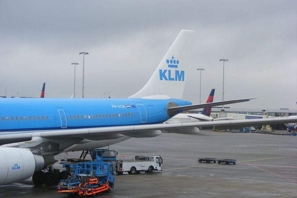 KLM at Amsterdam Schiphol Airport