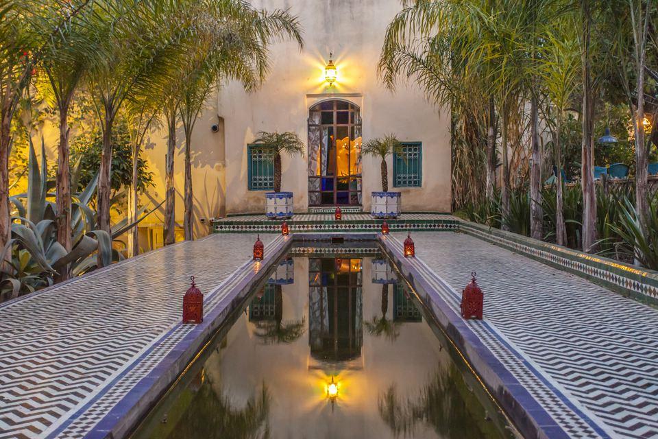 Patio en Riad Le Jardin des Biehn