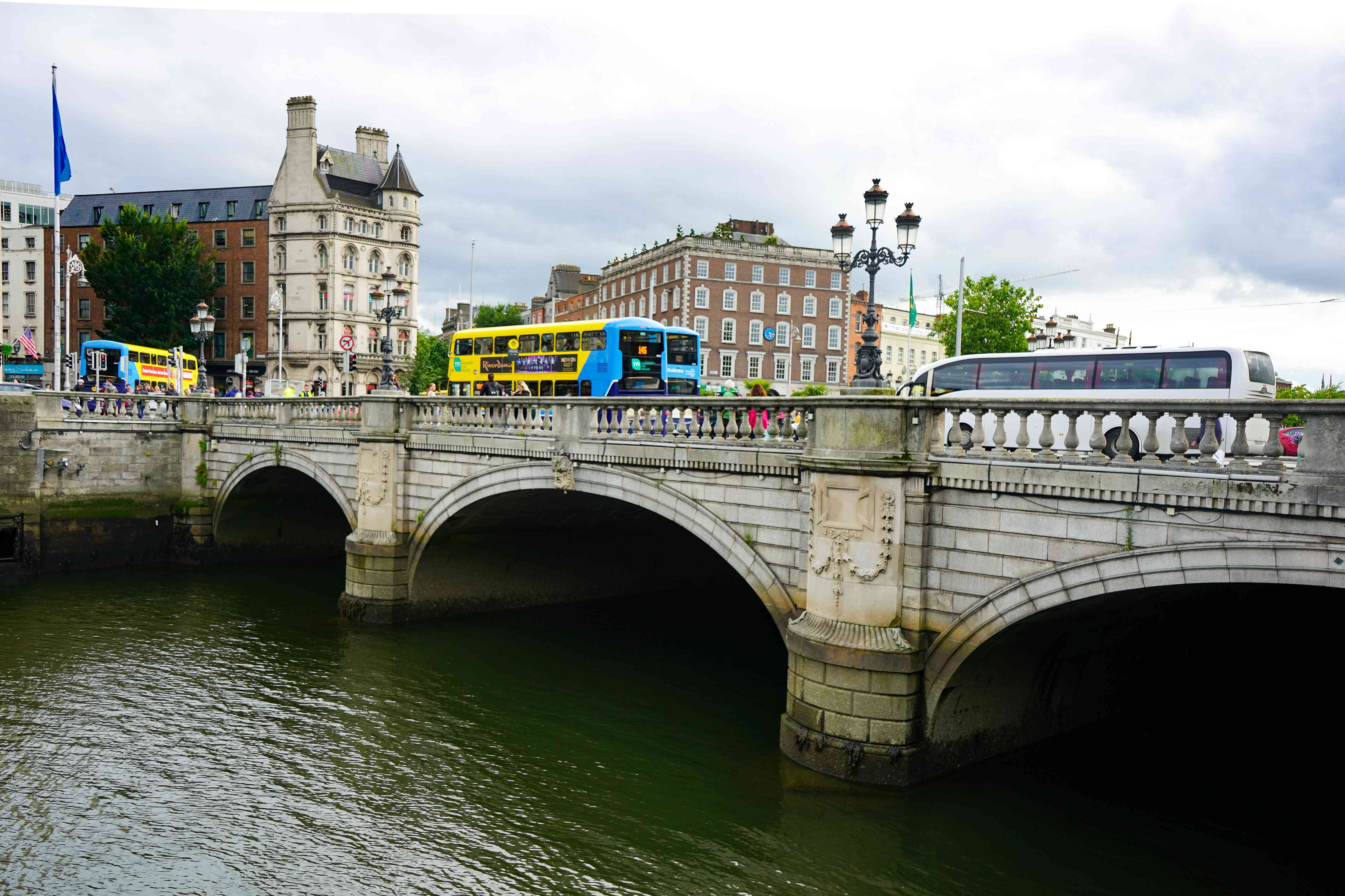 Puente O'Connell en Dublín, Irlanda