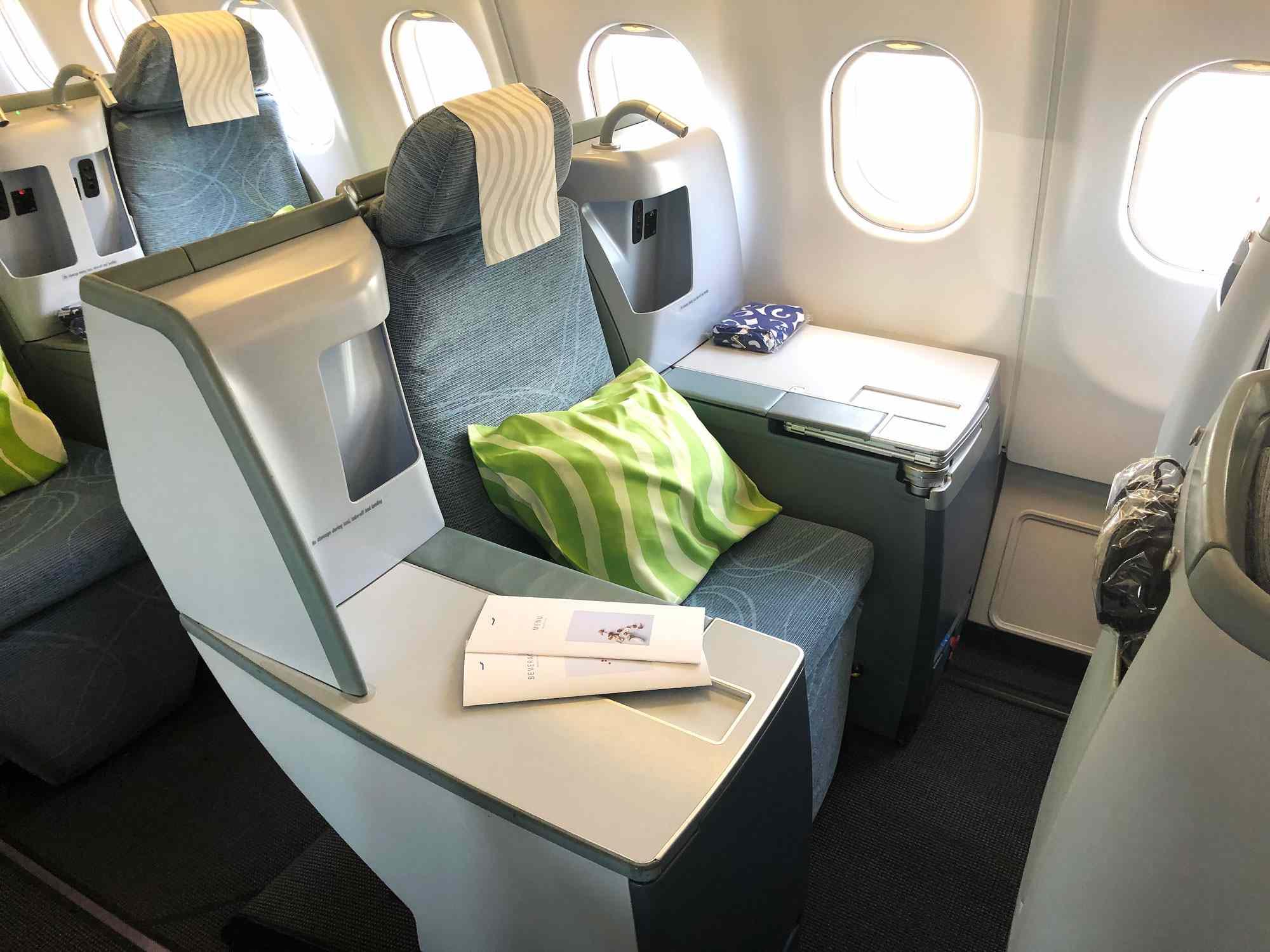 Finnair A330 business class seat