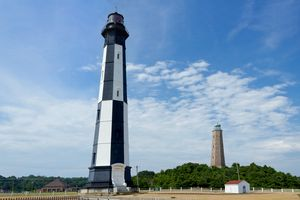 Old and New Cape Henry Lighthouses in Virginia Beach