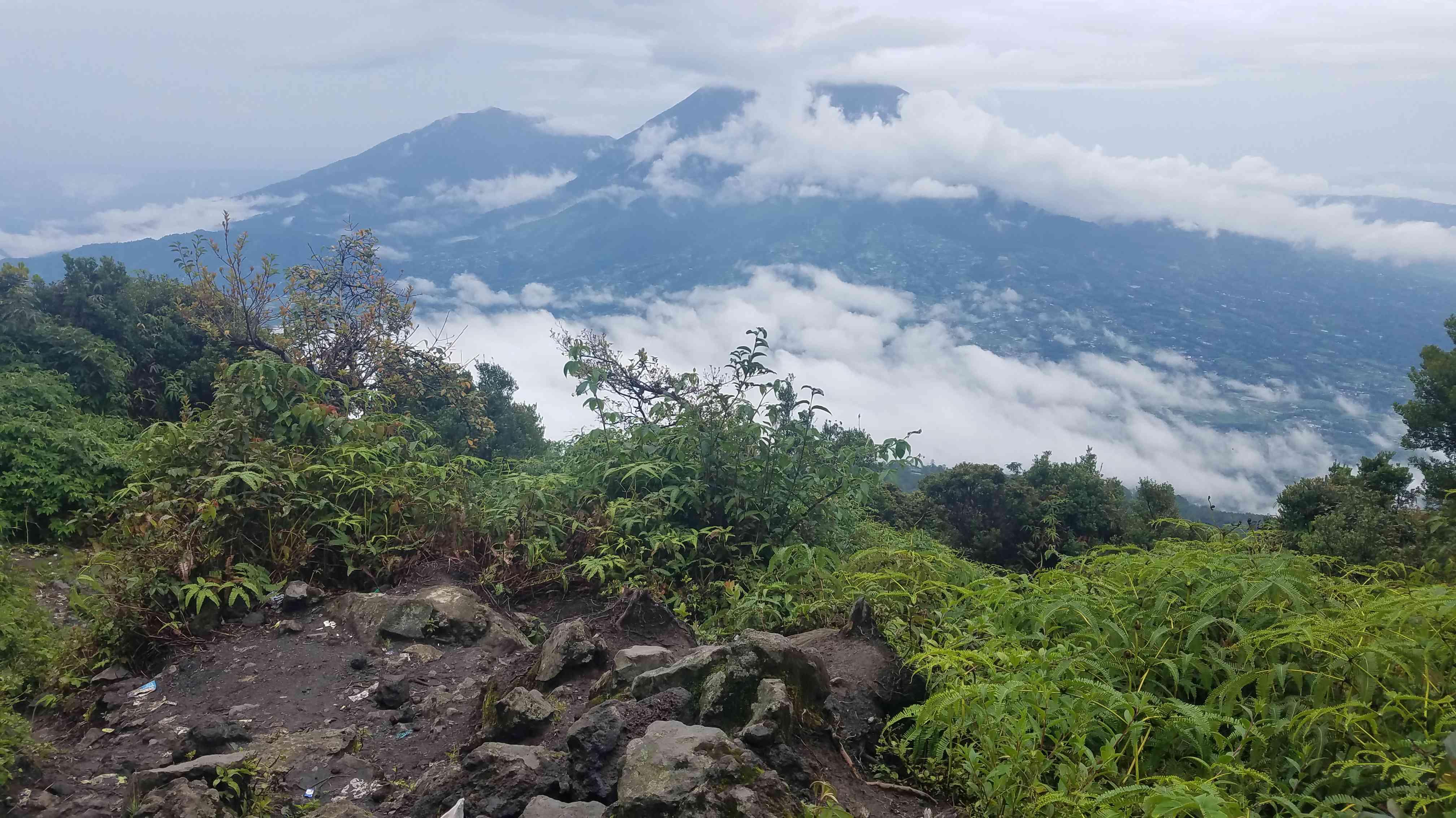 Gunung Marapi, a volcano in West Sumatra
