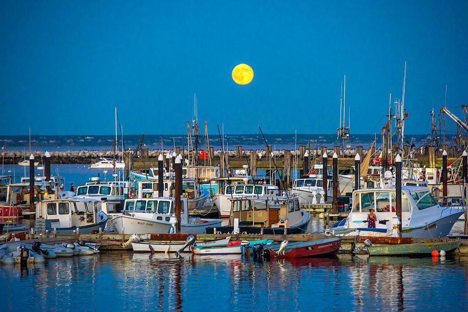 Blue Moon over Provincetown, Cape Cod