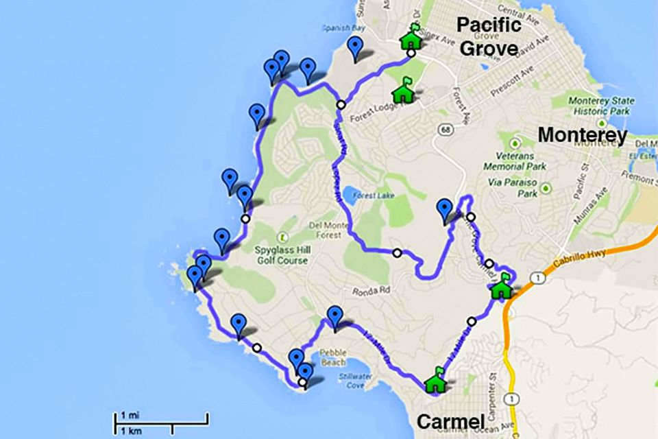 17 Mile Drive Map 17 Mile Drive   Must Do Stops and Proven Tips 17 Mile Drive Map