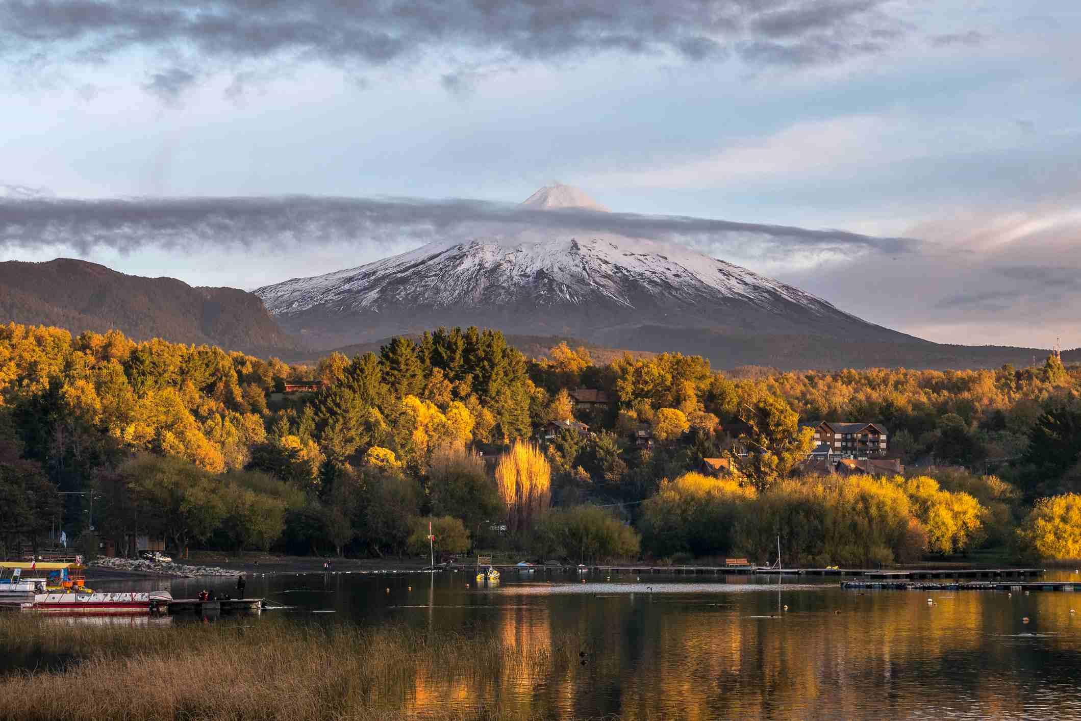 Villarrica Volcano at Sunset, Chile