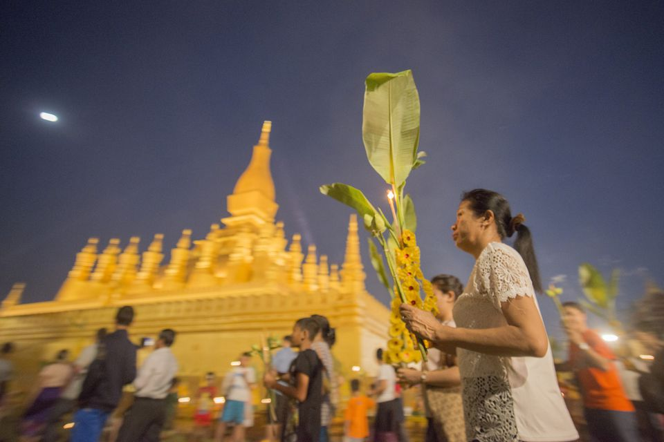 Festival at That Luang, Vientiane, Laos