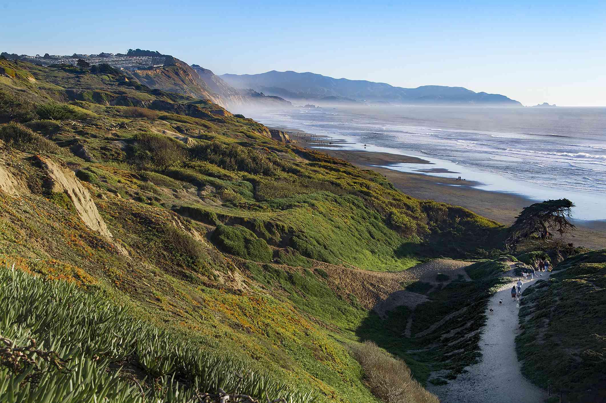 Fort Funston beach in San Francisco, California