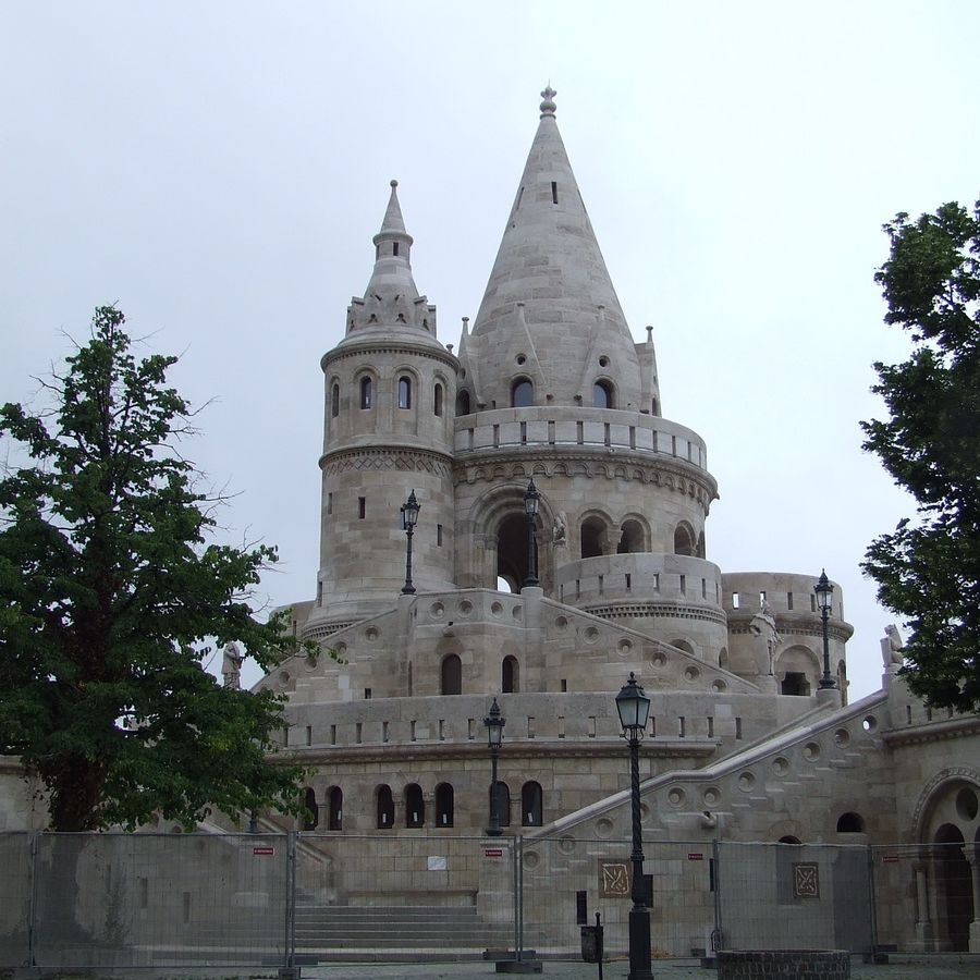 Fishermen's Bastion Overlooking the Danube River in Budapest