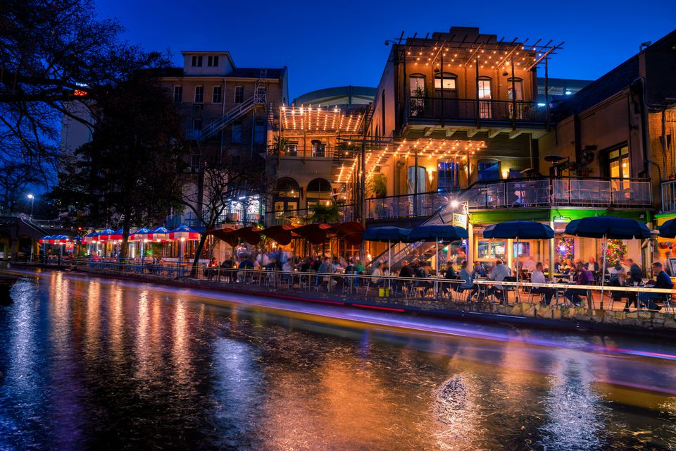 San Antonio Riverwalk Texas United States Of America North