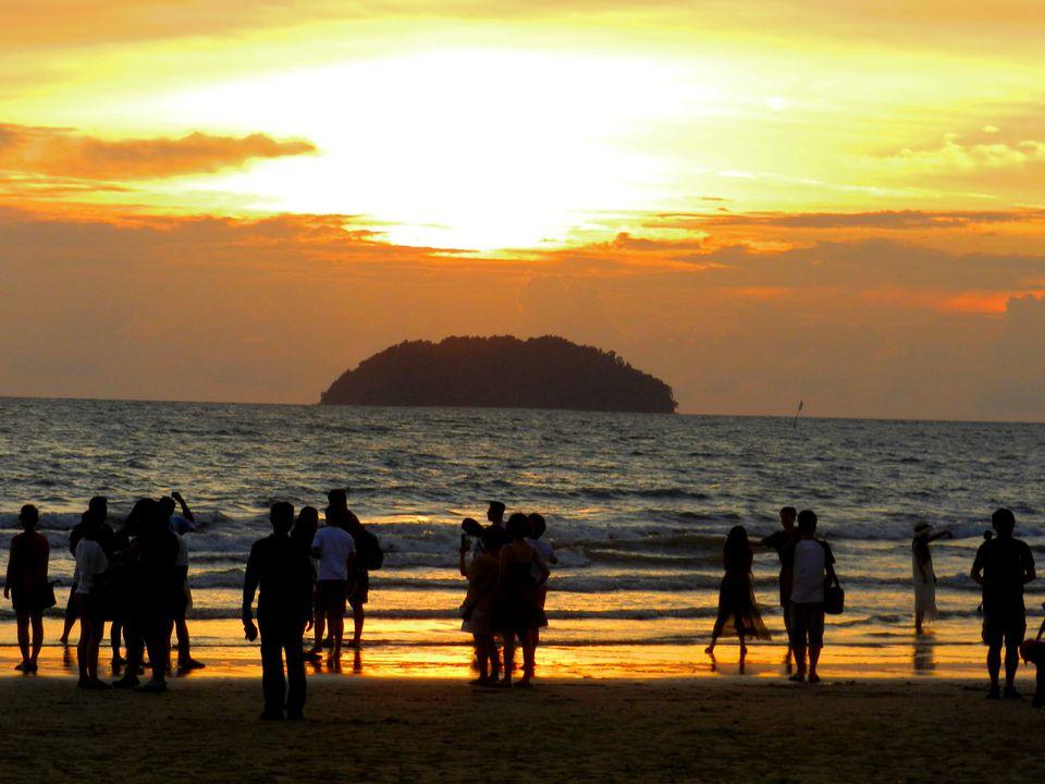 Sunset over Tanjung Aru, Malaysia