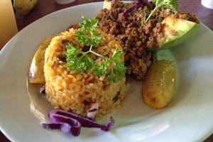 Avocado and Beef at La Casita Blanca